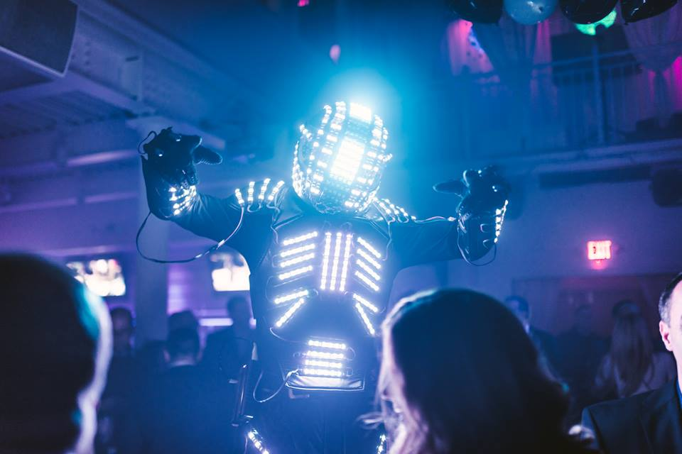 LED robots for wild parties
