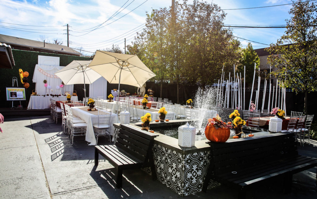 outdoor oasis party space