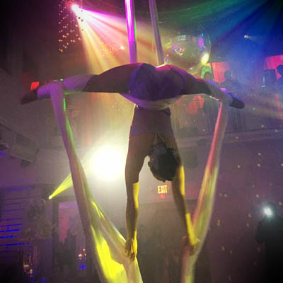 aerial acrobatics party performers