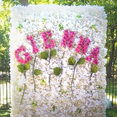 flower wall custom arranged photo backdrop