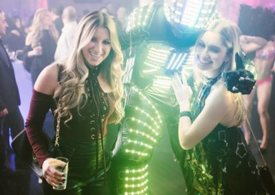 LED party robot for events