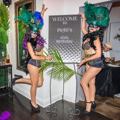 hire masquerade show girls for events