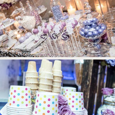 sweets tables and ice cream tables for parties